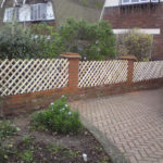 Bespoke chestnut rustic diamond fencing.